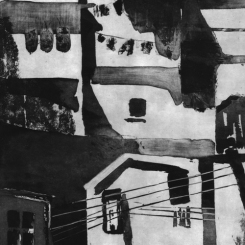 """Valparaiso"" Gravure du Chili par Géraldine Garçon"